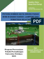 Potensi Sumber Daya Panas Bumi Di Danau Ranau Lampung dan Sumatera Selatan