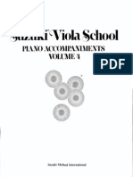 Suzuki Viola School - Ac.piano Vol.04