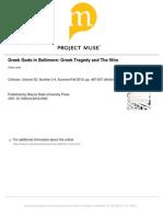 The Wire_greek Gods