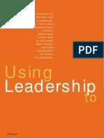 Using Leadership to Implement Leadership
