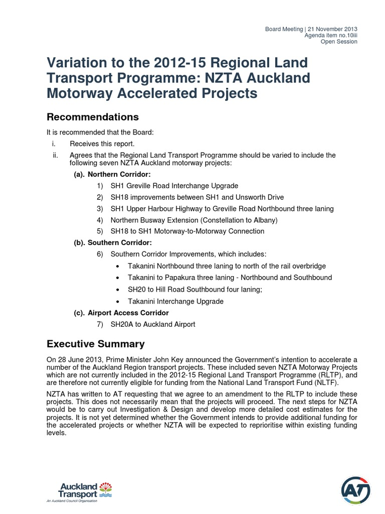 Auckland Motorway Projects to Be Fast Tracked | Controlled