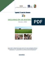 DECLARACIÓN DE SOSTENIBILIDAD LOCAL - Agenda 21 Local Albacete 2.pdf