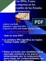 Initial Public Offering IPO Andrea Von Roth Seminario