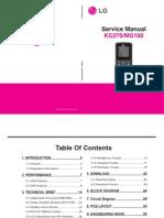 Lg Kg270, Mg160 Service Manual