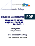 Mitkadmim Workbook Updated Annual 2010-11 Final