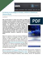 La ciencia y la tecnología en Europa, a debate en Madrid por Vanessa Marsh