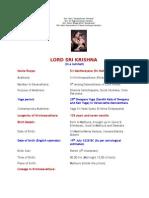 LORD SRI KRISHNA (in a nutshell)