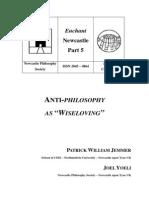 NPS - Anti-Philosophy as 'Wiseloving'