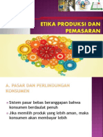 Etika Produksi Dan Pemasaran