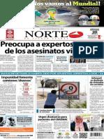 Periódico Norte de Ciudad Juarez 20 de Noviembre de 2013
