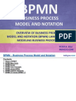 Business Processing Model and Notation (BPMN)