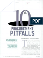 10 Procurement Pitfalls