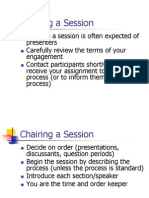 1. Chairing a Session