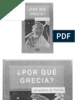 Por qué Grecia - Jacqueline de Romilly
