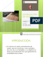 ESTABILIZACIÓN DE TALUDES