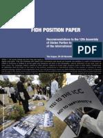 ASP 12 Position Paper Recommendations