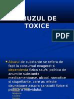 Abuzul de Toxice