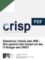 Salesforce, Oracle oder IBM - Wer gewinnt den Kampf um das IT-Budget des CMO?