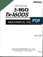 JV2-160 TX-1600S Mecanical Drawing V2.00 (Scanned) MIMAKI