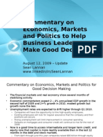 Commentary on Economics - Markets - Politics by Sean Lannan 8-12-09
