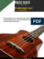 24 Must Common Ukulele Scales Modes Soprano C Tuning GCEA