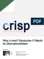 Who's Next? Deutscher IT-Markt im Übernahmefieber