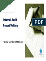 Intensive Internal Audit Report Writing