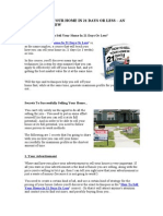 How to Sell Your Home in 21 Days or Less