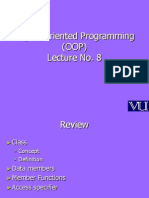 Object Oriented Programming (OOP) - CS304 Power Point Slides Lecture 08
