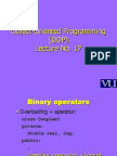 Object Oriented Programming (OOP) - CS304 Power Point Slides Lecture 17