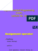 Object Oriented Programming (OOP) - CS304 Power Point Slides Lecture 18