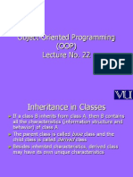 Object Oriented Programming (OOP) - CS304 Power Point Slides Lecture 22