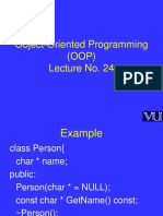 Object Oriented Programming (OOP) - CS304 Power Point Slides Lecture 24