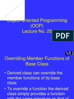 Object Oriented Programming (OOP) - CS304 Power Point Slides Lecture 25