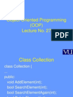 Object Oriented Programming (OOP) - CS304 Power Point Slides Lecture 27