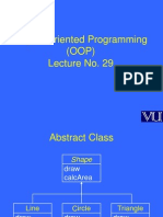 Object Oriented Programming (OOP) - CS304 Power Point Slides Lecture 29