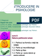 Introducere in Psihologie. Valeria Negovan. Universitatea Bucuresti. FPSE