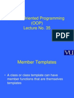 Object Oriented Programming (OOP) - CS304 Power Point Slides Lecture 35