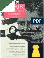 Abrir Las Ciencias Sociales_ Informe de La Comision Gulbenkian Para La Reestructuracion de Las Ciencias Sociales - Immanuel Wallerstein