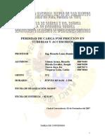 PERDIDAS DE PRESION POR FRICCIÓN