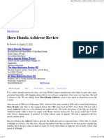 Hero Honda Achiever Review