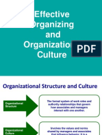 Effective Organizing & Org.culture