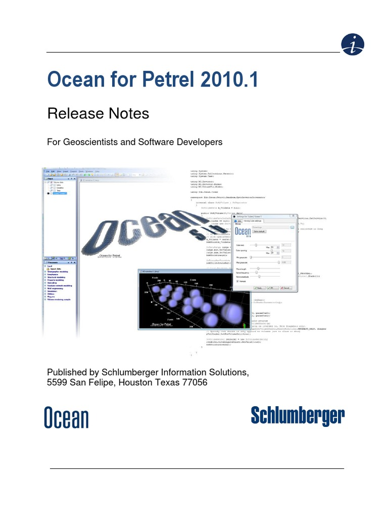 Ocean for Petrel 2010.1 ReleaseNotes | Application Programming Interface |  Microsoft Visual Studio