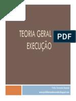 TEORIA GERAL DA EXECUÇÃO - Profa. Fernanda Resende