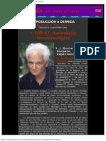 Ferraris, Fabrizio - Introducción a Derrida I. 1952-67; aprendizaje fenomenológico. Trad. Luciano Padilla López