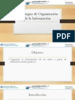 3. Estrategias para Organizar la Información