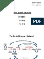 DNA RNA+Structure+Handout+VER++BCH5413++Fall+2013+II