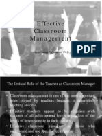 1 Effective Classroom Management-Dr Calderon