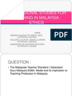 Professional Studies for Teaching in Malaysia-sgm