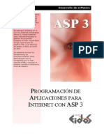 Libro - Programacion De Aplicaciones Para Internet Con Asp 3 - Grupo Eidos - Español - Spanish - Manual